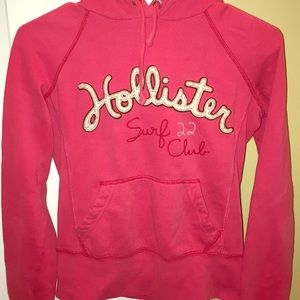 Hollister size small. Pink hoodie